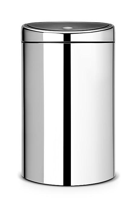 Brabantia Prullenbak 40 Liter.Brabantia Touch Bin 40 L Brilliant Steel Amazon Co Uk Kitchen
