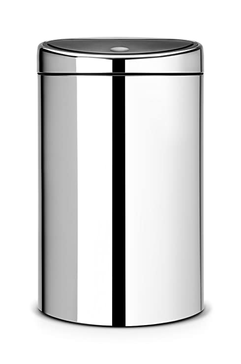 Brabantia Touch Bin 40 50 Liter.Brabantia Touch Bin 40 L Brilliant Steel