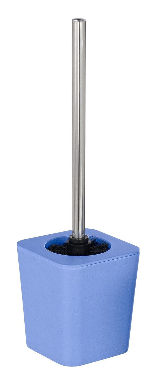 Wenko 20572100 Escobillero WC Natural azul, Bambú, 11.6 x 39 x 11.6 cm, Azul