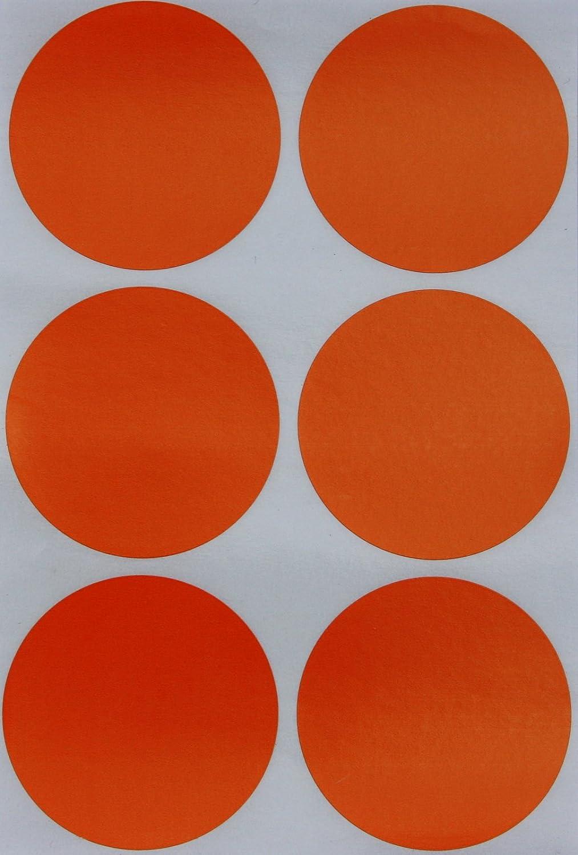 Royal Green Adesivi Rotondi Arancione Fluorescente Multiuso 50mm Casa Scuola Bollini Colorati Scrivibili 5cm Archivio Etichette per Bambini Lavoro Confezione da 540 Ufficio Organizzazione