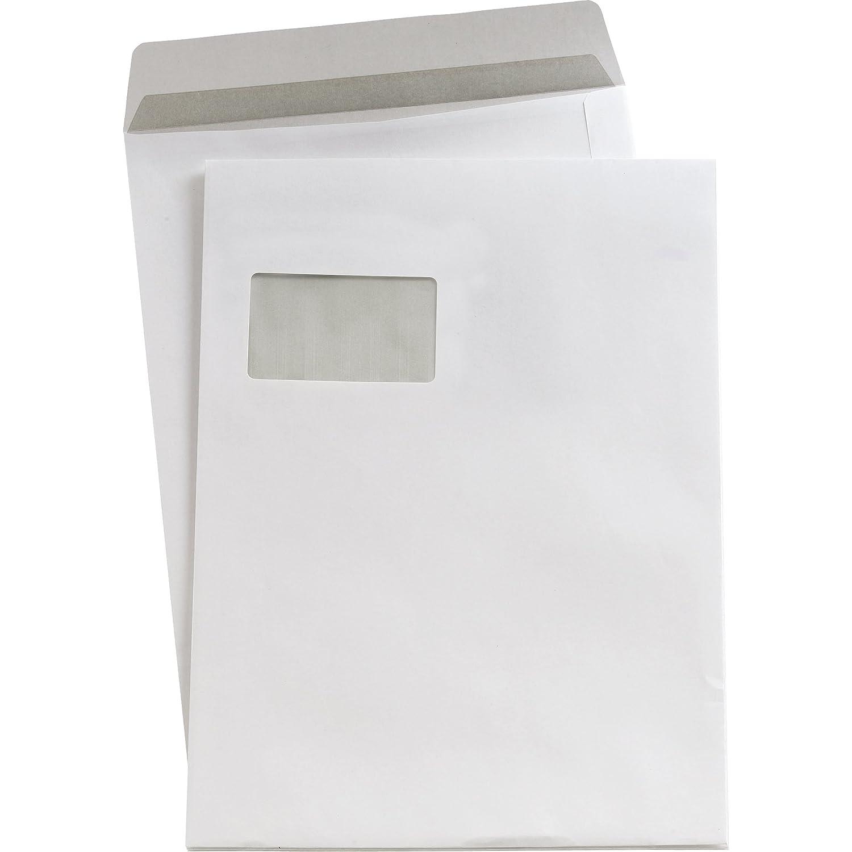5 Star - Busta da lettere con finestra, formato C4, chiusura autoadesiva, 90 g/m² , 250 pezzi, bianco 90 g/m² 22903171