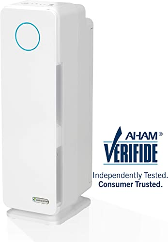 Germ Guardian Electrostatic Air Purifier for Home, Pets, Office, Bedrooms, Filters Allergies, Pollen, Smoke, Dust, Dander, UV-C Sanitizer Eliminates Germs, Mold, Odors, Quiet 22 inch 3-in-1 AC4300W