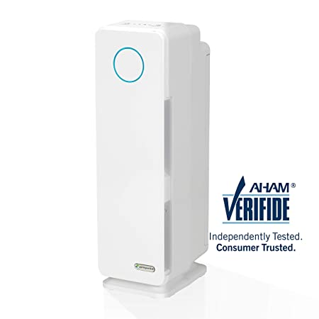 Germ Guardian AC4300WPT 22 3-in-1 True HEPA Filter Air Purifier for Home and Pets, Full Rooms, UV-C Sanitizer, Filters Allergies, Smoke, Dust, Dander, Odor, 3-Yr Wty, GermGuardian, White