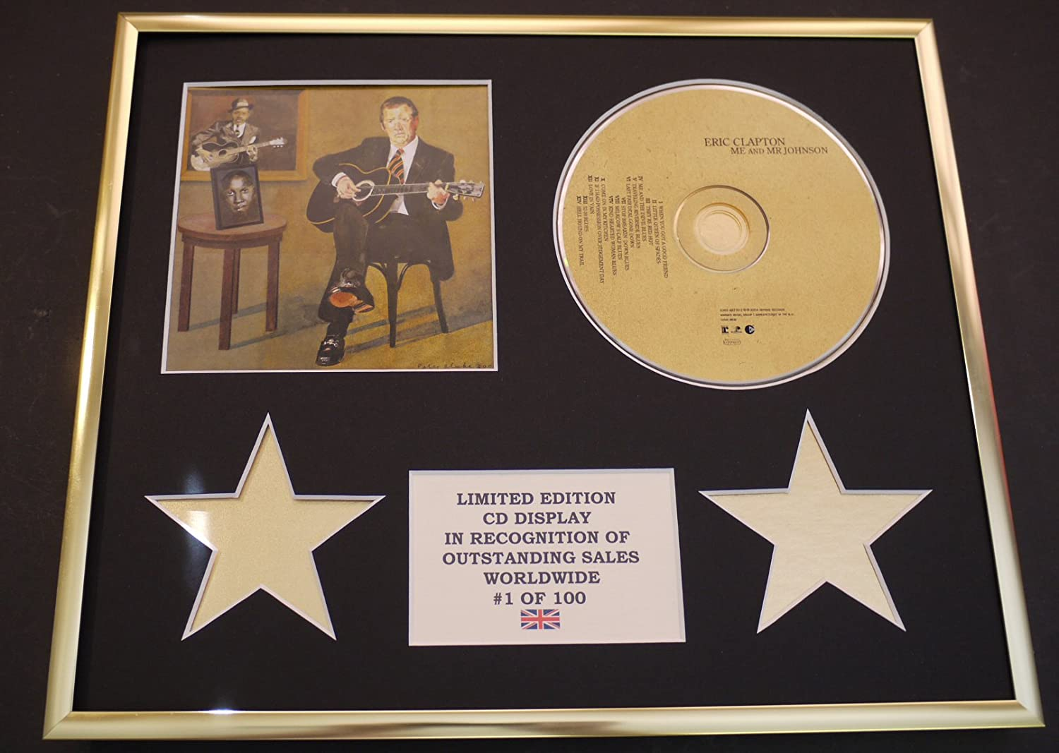 ERIC CLCAPTON//CD DISPLAY//LIMITED EDITION//COA//ME AND MR JOHNSON