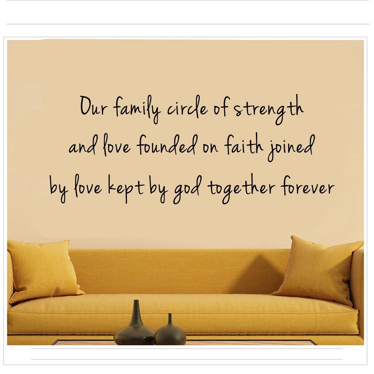 Amazon.com: Our family circle of strengthand love founded on faith ...