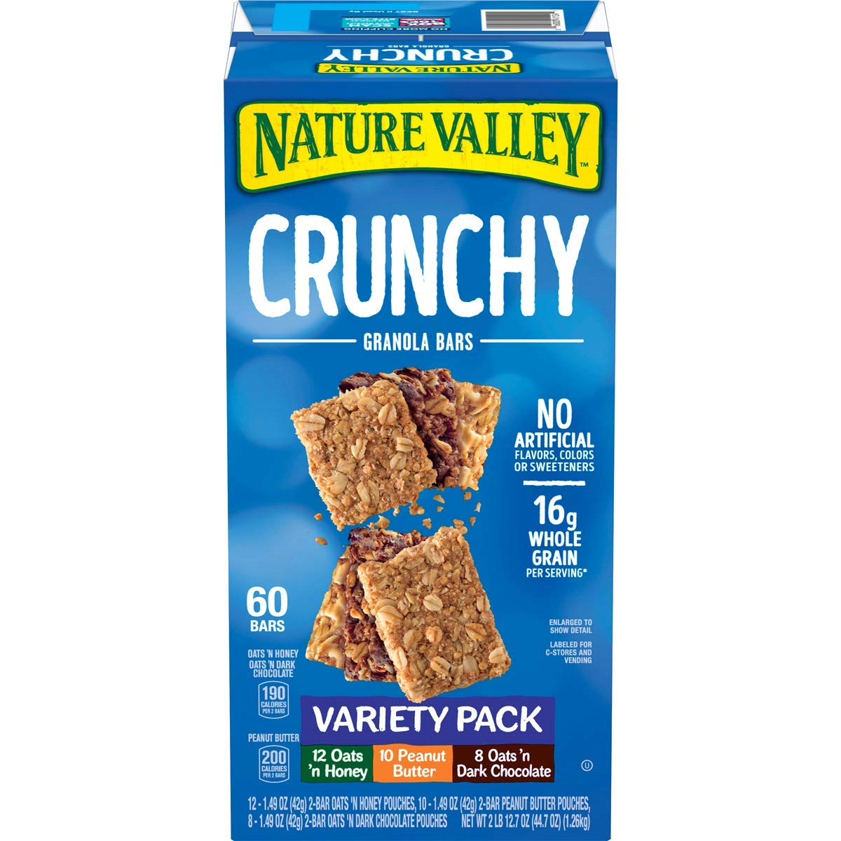 Nature Valley Crunchy Granola Bar Variety Pack, 44.8 Ounce