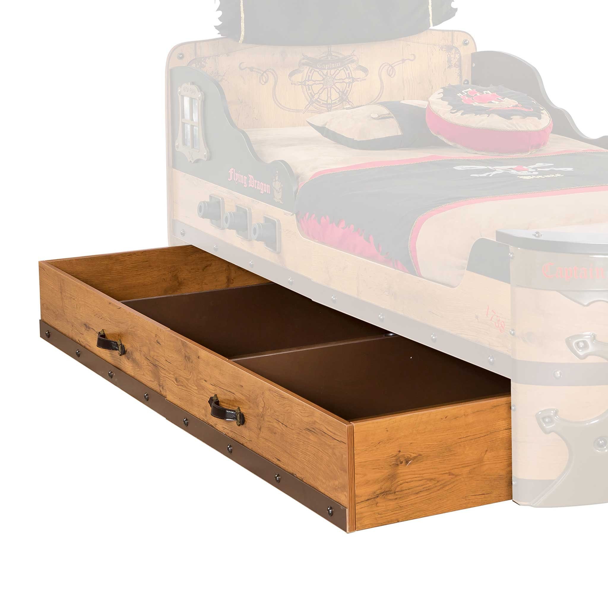 Cilek 20.13.1318.00 Pirate Storage and Trundle Bed, Twin, Brown