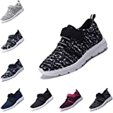 DEDU Kids Casual Lightweight Breathable Sneakers Easy Walk Sport Shoes for Boys Girls