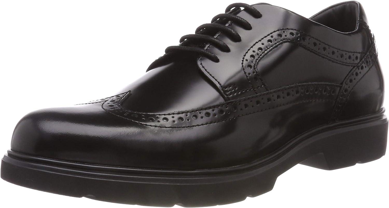 TALLA 39 EU. Geox U Arrall B, Zapatos de Cordones Brogue para Hombre