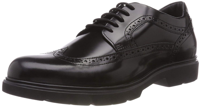 TALLA 43 EU. Geox U Arrall B, Zapatos de Cordones Brogue para Hombre