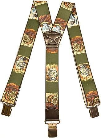 4cm Mens Heavy Duty Printed Y-Shape Braces//Suspenders General Interest