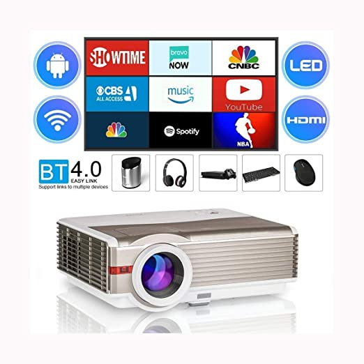 Proyector LED LCD 8400 Lux WiFi Bluetooth Proyector inteligente ...