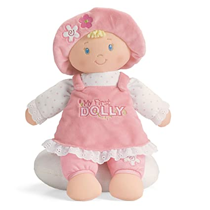 amazon com gund my first dolly stuffed plush blonde doll 12 toy