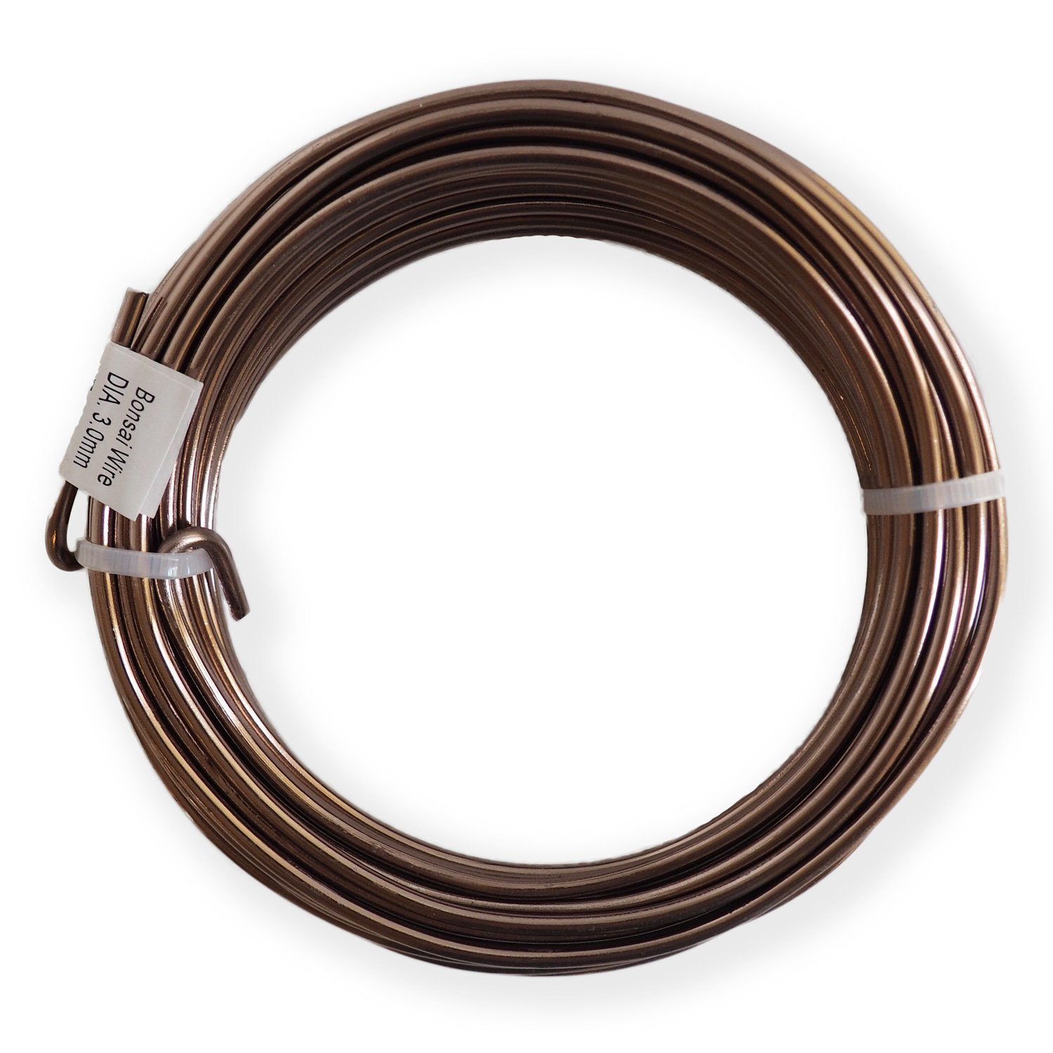 Anodized Aluminum 4.0mm Bonsai Training Wire 250g Large Roll (23 feet) - Choose Your Size and Color (4.0mm, Brown)