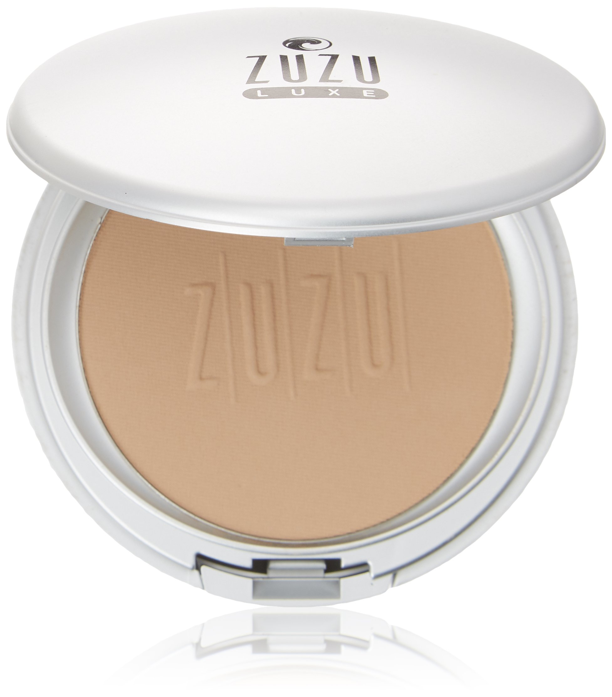 Zuzu Luxe - Dual Powder Foundation (D - 17),0.32 ozMineral Powder, Pressed mineral powder, medium to full coverage, natural finish. Natural, Paraben Free, Vegan, Gluten-free, Cruelty-free, Non GMO.