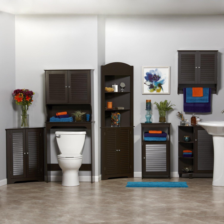 Bathroom floor cabinet - Amazon Com Riverridge Home Ellsworth Collection 2 Door Wall Cabinet Espresso Home Kitchen