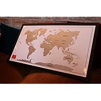 Mapa Mundi De Raspar - Raspadinha/Scratch Map