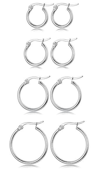 Amazon.com: Jstyle joyas 3 – 4 pares de la mujer lindo ...