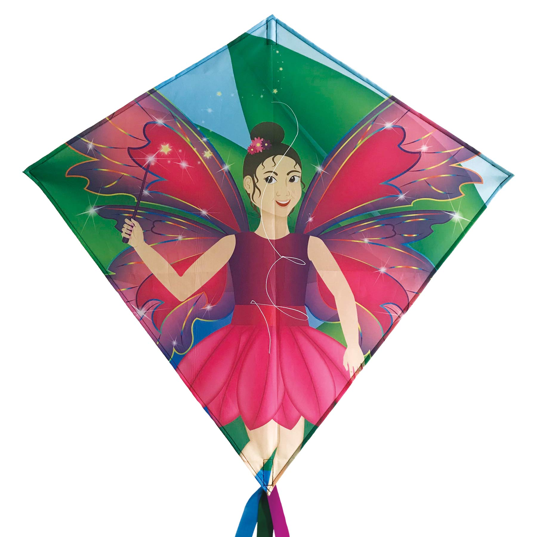 In the Breeze 3270 - Fairy 30'' Diamond Kite - Fun, Easy Flying Kite by In the Breeze