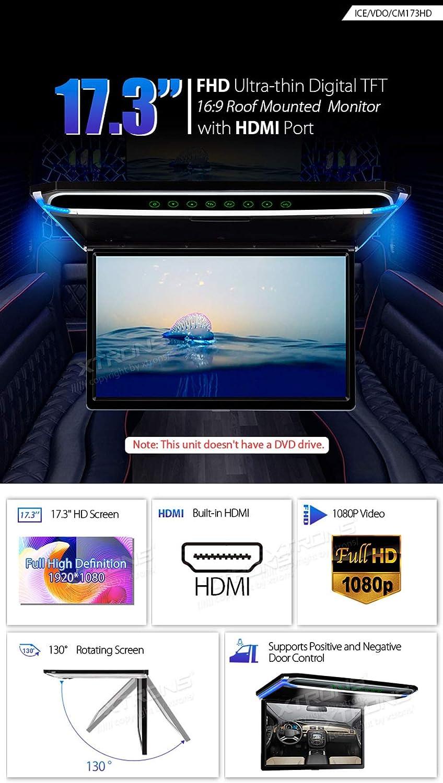 Xtrons 17 3 Digital Tft Fhd 16 9 Bildschirm Für Auto Elektronik