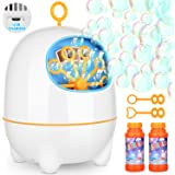 BATTOP Bubble Machine,Automatic Bubble Blower Machine for Kids with Bubbles Solutions and 2 Bubbles Blowing Speed Levels for Parties Outdoor & Indoor,USB Charging,Simple & Easy to Use