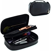 Small Makeup Bag, Relavel Travel Cosmetic Bag Makeup Brush Organizer Holder for Women Girls Black