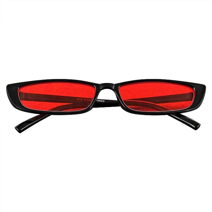 Amazon.com: Gafas de sol rectangulares pequeñas para mujer ...