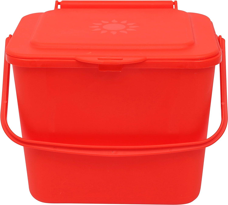 5 L Color Rojo All-Green Papelera para compostaje