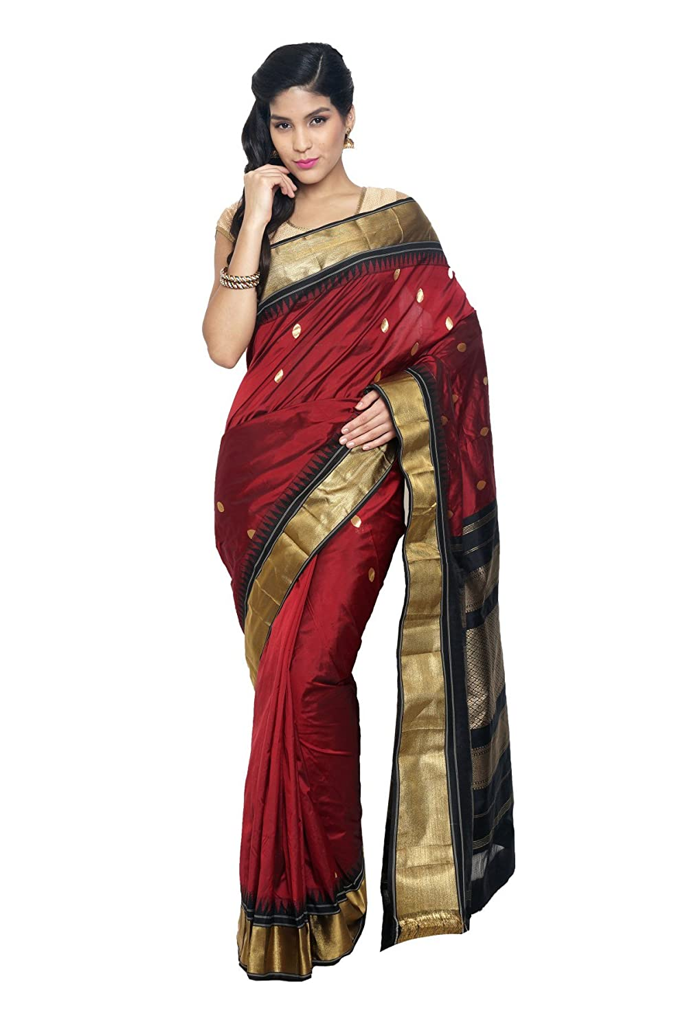 SUDARSHAN NEW KANCHIPURAM SAREE-Silver-SLV50-MN-Silk Sudarshan Silks SP_SLV59