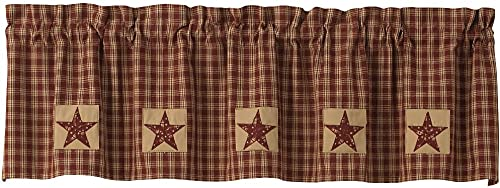 Park Designs Sturbridge Patch Lined Valance – Wine