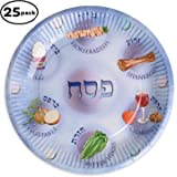 Paper plates for Passover, 25 Paper Seder Plates, Pesach plates for kids.