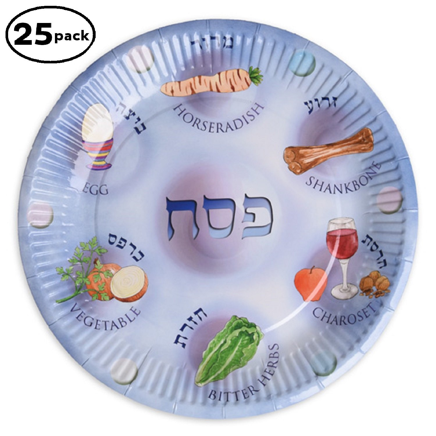 Paper plates for Passover 25 Paper Seder Plates Pesach plates for kids.  sc 1 st  Amazon.com & Best Rated in Seder Plates u0026 Helpful Customer Reviews - Amazon.com