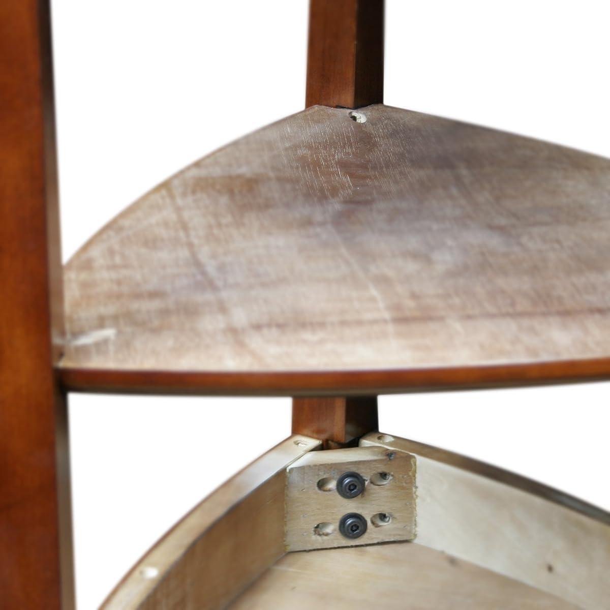 Leick Shield Tier Corner Accent Table