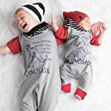 Newborn Baby Boys Girls Letter Dinosaur Hoodie