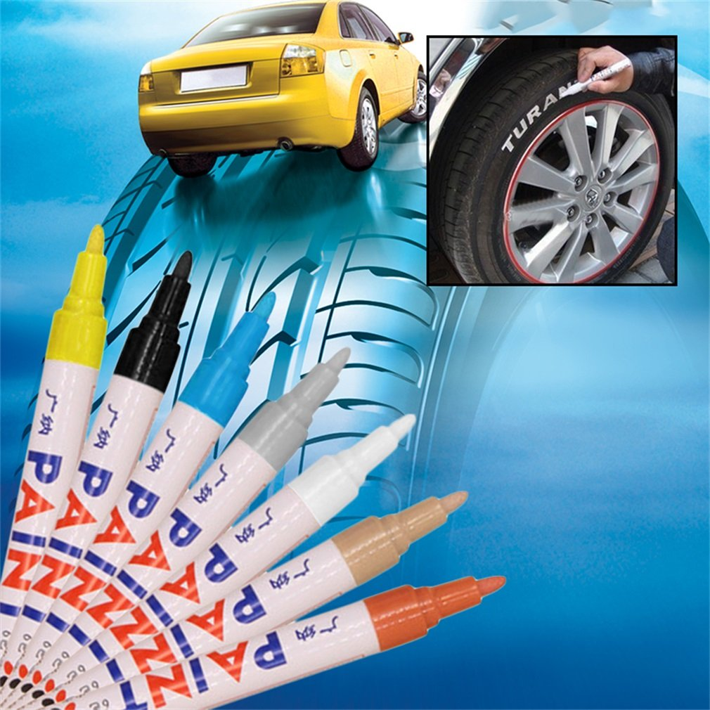 Yogasada Waterproof Car Auto Motorcycle Tyre Tire Tread Marker Paint Pen Rubber