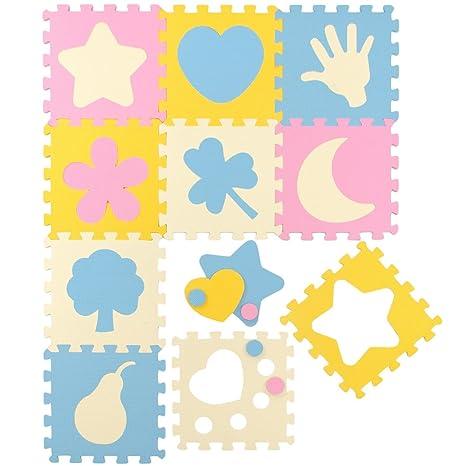 bab22fa57d9 LittleTom TÜV Probado Alfombras Puzzle para Bebés Suelo Goma EVA Pastel  Iconos
