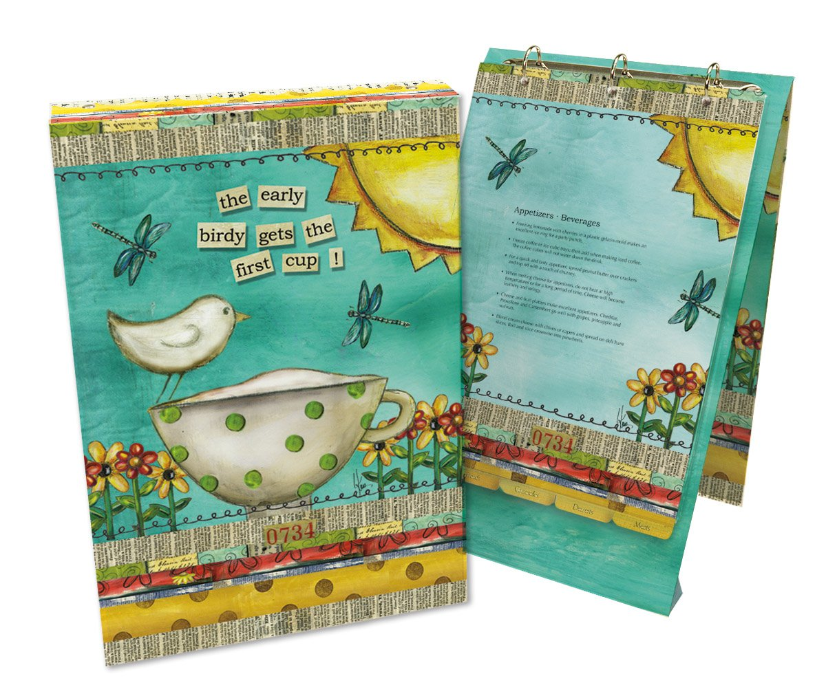 lang 2016001 color my world vertical recipe card album by