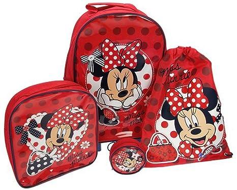 Disney - Set de viaje con 4 piezas (trolley, saco, bolso ...
