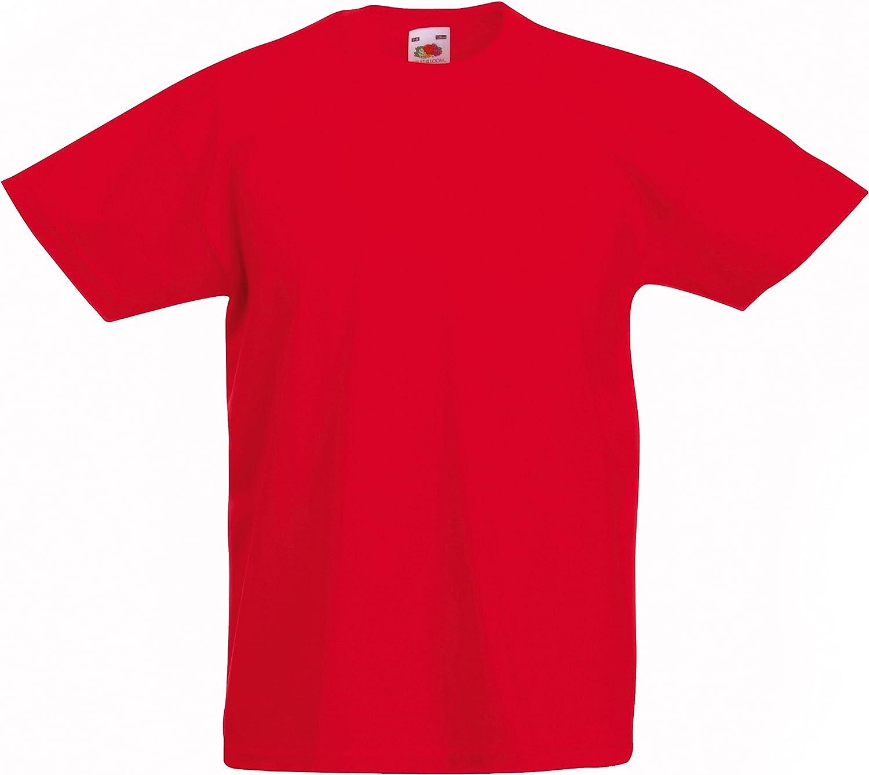 Fuchsia Fruit of the Loom Valueweight Enfant T-Shirt-Enfants à Manches Courtes