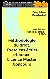 Méthodologie du droit. Exercices écrits et oraux. Licence Master Concours: Les Petites Fiches de Droit - PFDD