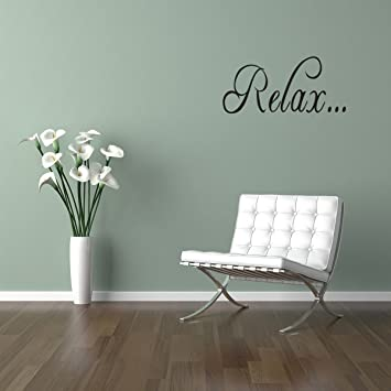 relax bathroom tub wall quote decal saying lettering home decor vinyl sticker