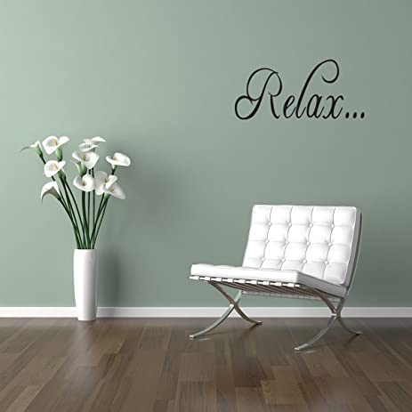 Merveilleux RELAX Bathroom Tub Wall Quote Decal Saying Lettering Home Decor Vinyl  Sticker