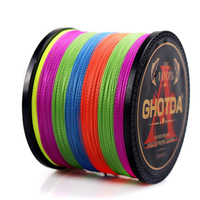 GHOTDA Braid Fishing line 300M 500M 1000M 4 Strands Multifilament Fishing Wire