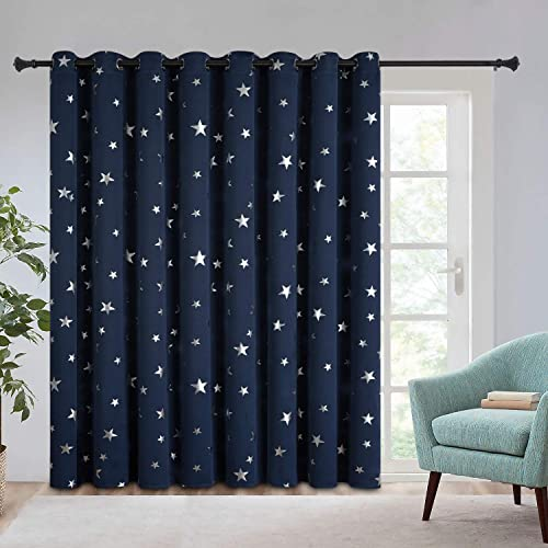 Estelar Textiler Room Divider Curtain Screen Partitions Star Curtain 96 Inch Length Grommet Curtain