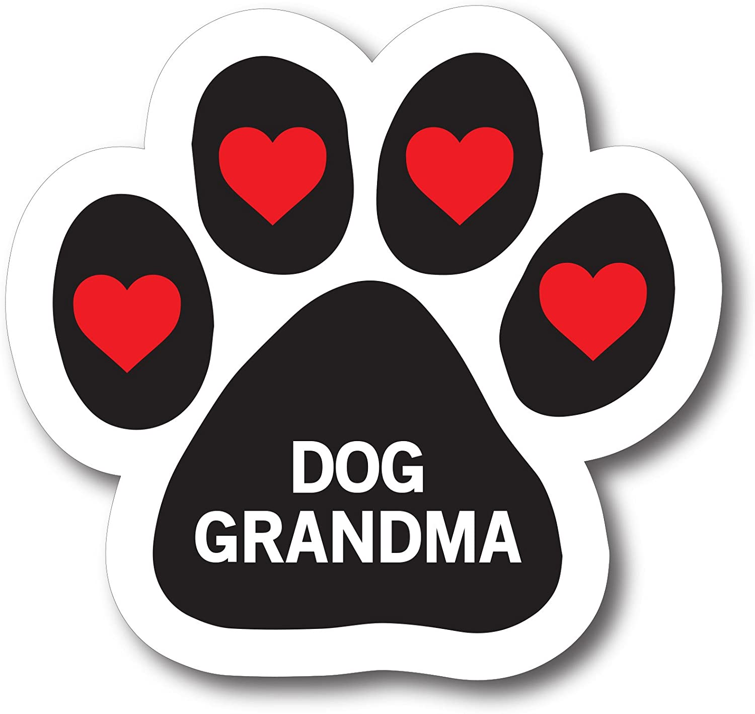 Magnet Me Up Dog Grandma Pawprint Car Magnet Paw Print Auto Truck Decal Magnet