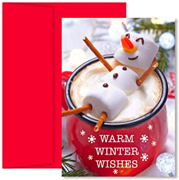 Marshmallow Snowman Masterpiece Studios Boxed Holiday Cards 2018