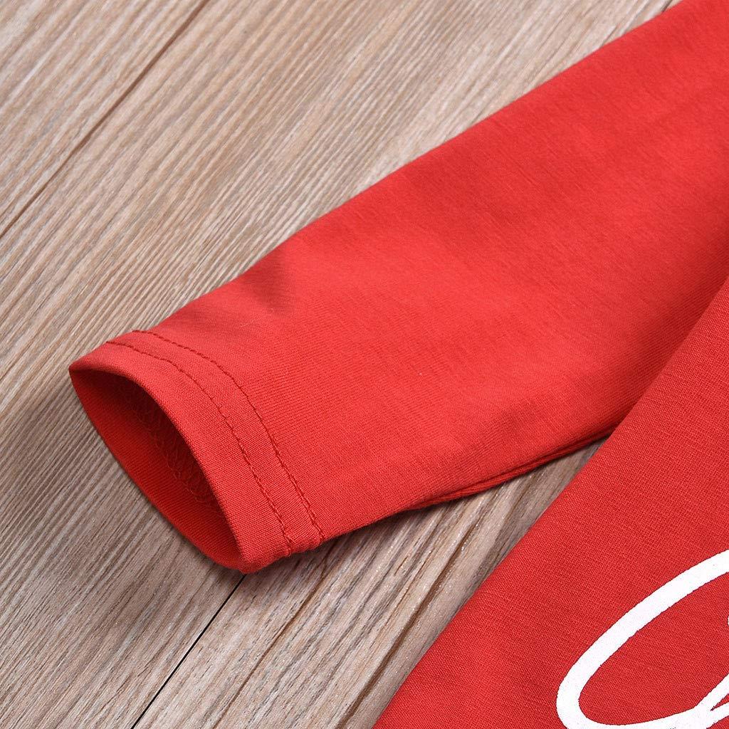 No/ël Nouveau-n/é B/éb/é Gar/çon Fille Barboteuse Top Casquette Christmas Tenues Flocon de Neige Impression Rouge Infantile Ensemble de V/êtements Lettre Mon Premier Noel Pantalons