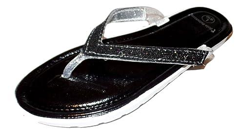 d2b5f142bc8ce7 101 BEACH Glitter Embellished Strap Sandal (Small (5-6)