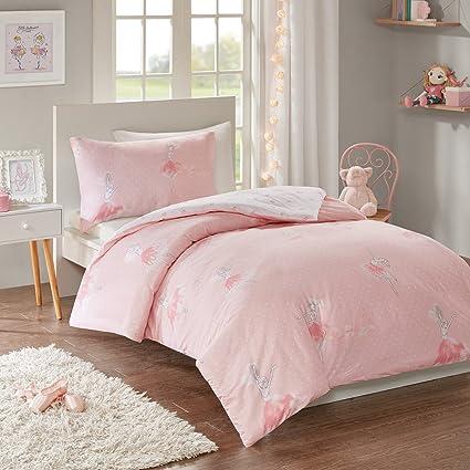 Single 135x200cm Princess Pink Duvet Set Home & Kitchen Bedding Sets