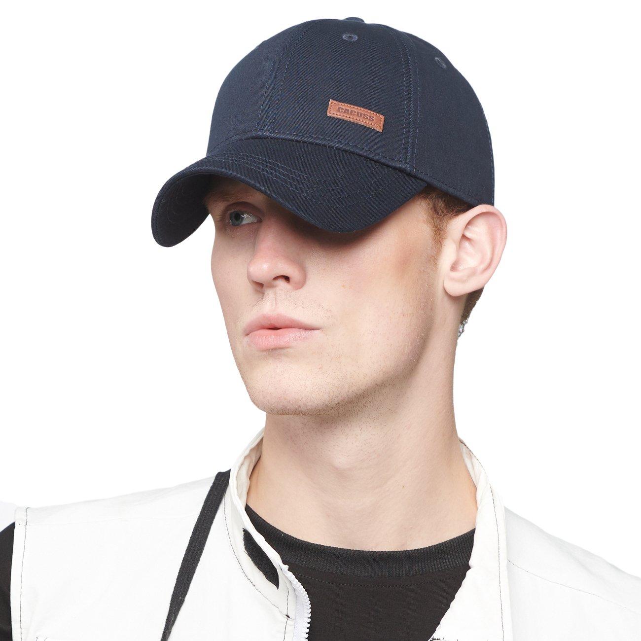 CACUSS Baumwolle Herren Baseball Cap einstellbar für Draussen Sport oder auf Reisen UKB0064Navywine
